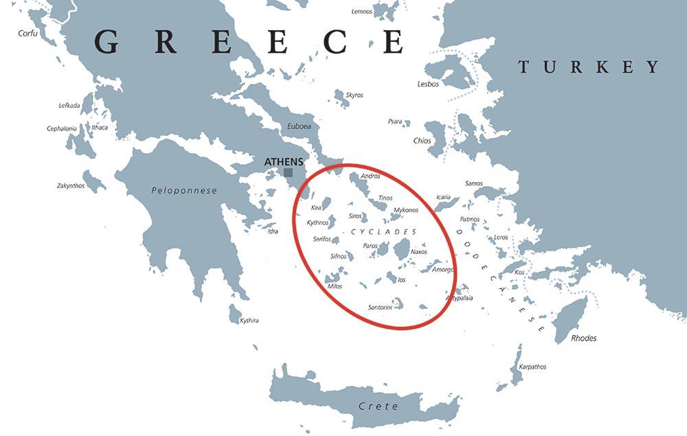 Ios Cartina Geografica.Isole Cicladi Elenco Mappa Le Piu Belle Quale Scegliere Gui